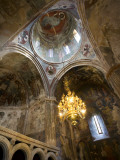 Ceiling Frescoes Inside Sapara Monastery Photographic Print by Mark Daffey