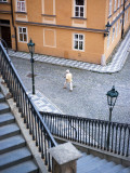 Stairs and Woman Walking, from Charles Bridge Fotografie-Druck von Christopher Groenhout