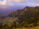 Valley and Ocean Below from Kalalau Lookout Photographic Print by Linda Ching
