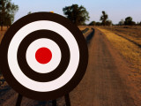 Archery Target on Country Road Photographic Print by Oliver Strewe