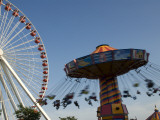 Amusement Rides on Navy Pier Photographic Print by Peter Ptschelinzew
