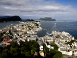 Alesund from Mount Aksla Photographic Print by Manfred Hofer