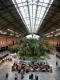 Tropical Garden and Cafe in Atocha Railway Station Photographic Print by Bruce Bi
