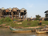 Stilted Houses in Village on Tonle Sap Lake Photographic Print by Ariadne Van Zandbergen