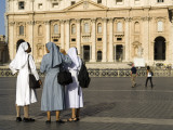 Nuns with St Peter's in Background Photographic Print by Will Salter