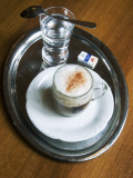 Coffee, Traditionally Served on Oval Metal Tray with a Glass of Water Reproduction photographique par Krzysztof Dydynski
