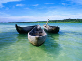 Pirogues (Dugout Canoe) in Nosy Nato, a Small Island Joined to Ile Sainte Marie (Nosy Boraha) Photographic Print by Olivier Cirendini