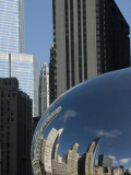 Skyline Reflected in Cloudgate, also known as 'The Bean' Photographic Print by Peter Ptschelinzew
