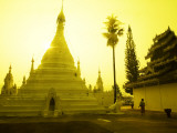 Sunrise at Wat Phra That Doi Khong Mu Photographic Print by Antony Giblin