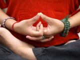 Yoga Hands in Yogic Mudra Pose Photographic Print by Christer Fredriksson