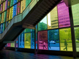Coloured Glass Panels of Palais Des Congres Photographic Print by Olivier Cirendini