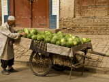 Vendor with Watermelon Cart Photographic Print by Wes Walker