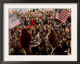 President Bush Receives Cheers as He is Introduced at a Campaign Rally at Post-Gazette Pavilion Framed Photographic Print