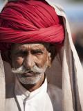 Portrait of Man in Red Turban Photographic Print by April Maciborka