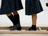 Legs of Playing Schoolgirls at St. Vincent Elemetary School Photographic Print by Brian Cruickshank