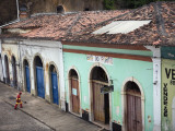 Garbage Man Cleaning Street in Historic Centre in Sao Luis Photographic Print by Viviane Ponti