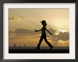 Sunset Walker, Honolulu, Hawaii Framed Photographic Print by Marco Garcia