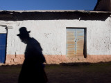 Street Scene in High, Altiplano Village, Pucara Photographic Print by Brent Winebrenner