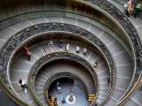 Staircase at Vatican Museum Photographic Print by Tony Burns
