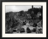 Tanks of the U.S. 7th Army Rumble Through Nuremberg Framed Photographic Print
