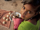 Young Girl Preparing Dough for Roti Photographic Print by April Maciborka