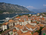 St Tryphon's Cathedral, Stari Grad (Old Town) and Bay of Kotor Photographic Print by Richard l'Anson