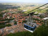 Cable Car Ascending to Medieval Centre of San Marino on Titan Mountain Photographic Print by Ruth Eastham & Max Paoli