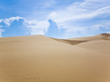 White Sand Dunes Against Blue Sky Photographic Print by Kimberley Coole