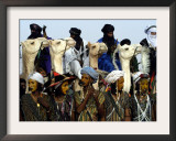 A Wodabe Man Waits to Perform a Dance of Male Beauty at a Festival in Ingall, Niger, Sept. 25, 2003 Framed Photographic Print by Christine Nesbitt