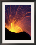 Lava Bursts from Mount Etna, Near Nicolosi, Italy, Wednesday July 25, 2001 Framed Photographic Print by Pier Paolo Cito