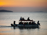 Tourist Boat at Sunset on Lake Malawi, Cape Maclear Photographic Print by Ariadne Van Zandbergen