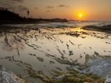 Sunset over Rockpools and Sea on Costa Arriba Photographic Print by Alfredo Maiquez