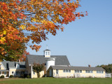Farmhouse and Fall Colours Near Kennebunkport Photographic Print by Peter Ptschelinzew