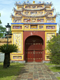 Western Entrance Gate to the Mieu Temple Inside Hue Citadel and Imperial City Photographic Print by Nicholas Reuss
