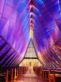 Cadet Chapel Interior, Us Air Force Academy Photographic Print by John Elk III