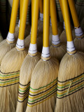 Brooms Made in Traditional Way from Millet, Tumut Broom Factory Photographic Print by Oliver Strewe