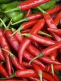 Fresh Chillies for Sale at Psar Nat Market Photographic Print by Rachel Lewis