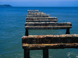 Remains of Old Pier Photographic Print by Krzysztof Dydynski