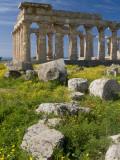 Selinunte Temple Ruin Photographic Print by Olivier Cirendini