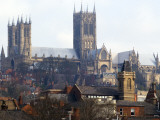Lincoln Cathedral over Rooftops Photographic Print by Rick Gerharter