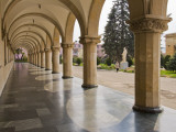 Colonnaded Marble Walkway at Joseph Stalin Museum Photographic Print by Tim Makins