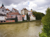 Castle and Danube River Photographic Print by Aldo Pavan