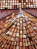 Tiled Roof Detail in Old Town Photographic Print by Richard l'Anson