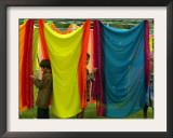 A Washerman with His Children Hang Clothes Framed Photographic Print by Rajesh Kumar Singh
