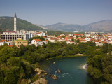 City and Neretva River Photographic Print by Richard l'Anson