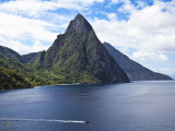 The Pitons on Southwestern Coast Photographic Print by Angus Oborn
