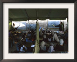 Afghan Teachers Give a Language Lesson to Boys and Girls Framed Photographic Print by Rodrigo Abd