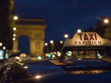 Taxi on Champs Elysees at Dusk Photographic Print by Will Salter