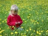 Girl Sitting in Dandelion Field Near Sr. Radovna Photographic Print by Ruth Eastham & Max Paoli
