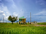 New Home, Built after Hurricane Katrina, in the Lower Ninth Ward Photographic Print by Ray Laskowitz